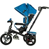 Evezo 302A 4-in-1 Parent Push Tricycle for Kids, Stroller Trike Convertible, Swivel Seat, Reclining Seat, 5-Point Safety…
