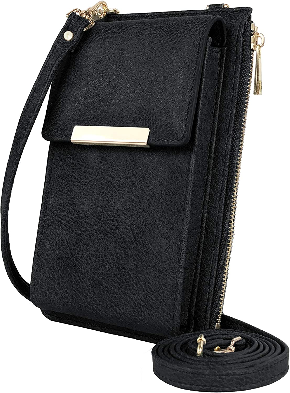 Deluxity Gianna Stylish Lightweight Small Plaid Crossbody Bag Cell Phone Purse Shoulder Bag Wallet with Card Holder for Women
