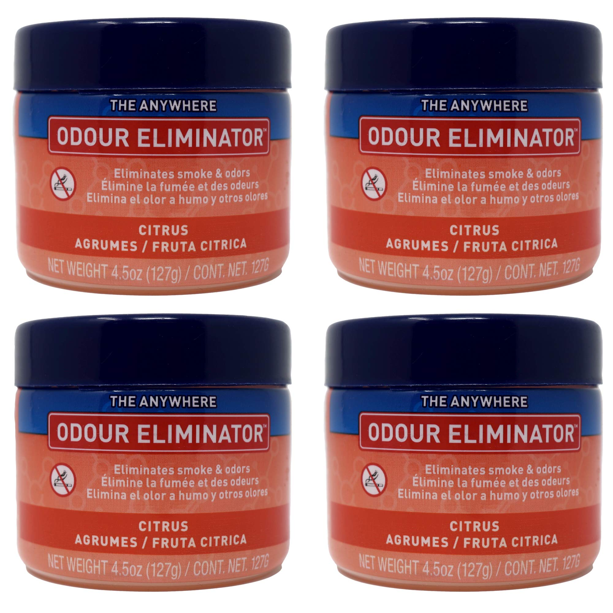 Ozium Gel Smoke & Odor Eliminator - The Original Anywhere Odor Eliminator & Deodorizer, Fresh Citrus Scent for Home, Office, RV and Car Air Freshener 4.5 oz Gel (Pack of 4) by Ozium