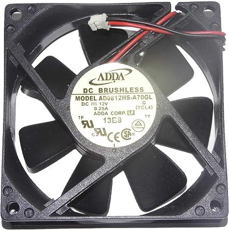 120x120x25mm RDM1225B 12V 0.23A 2Wire Power Fan