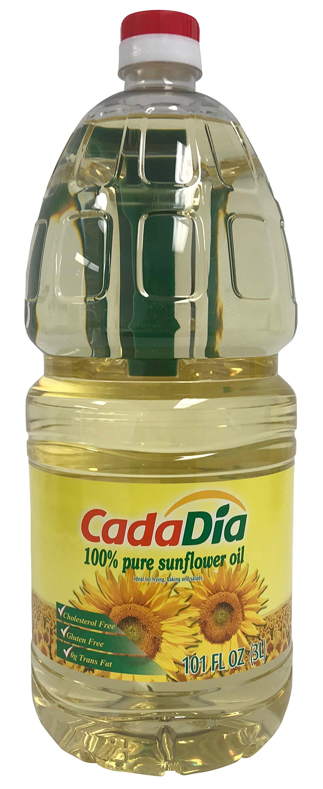 Pure Sunflower Oil 3 L (101 Fl Oz) (3.17 QT) First Cold Press NON GMO