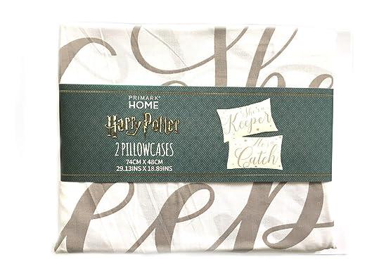 Primark Home 2 Fundas de Almohada Harry Potter 74 cm x 48 cm ...