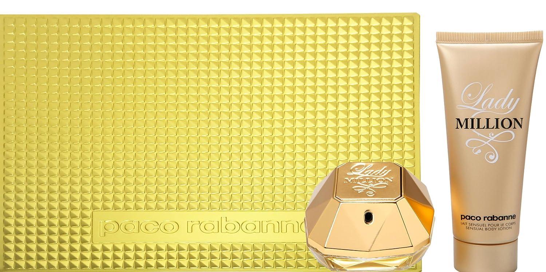 Paco Rabanne Lady Million Geschenk-Set mit 80 ml Eau de Parfum Spray und 100 ml Body Lotion