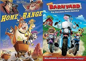 On the Farm Animals Disney Home on Range Music Cartoon + Barnyard Original Party Animals DVD Animated Double Feature Set Bundle