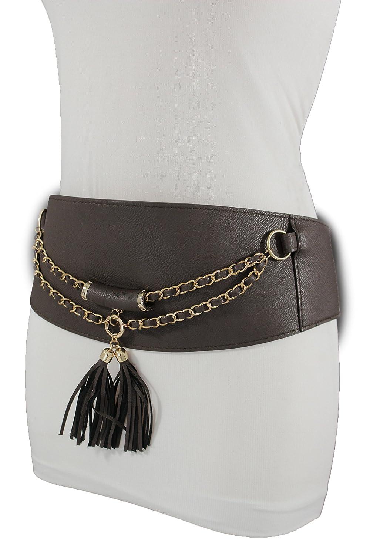 Ladies Girl Fashion Knot Skinny Faux Leather Thin Adjustable Waist Dress Belt SM
