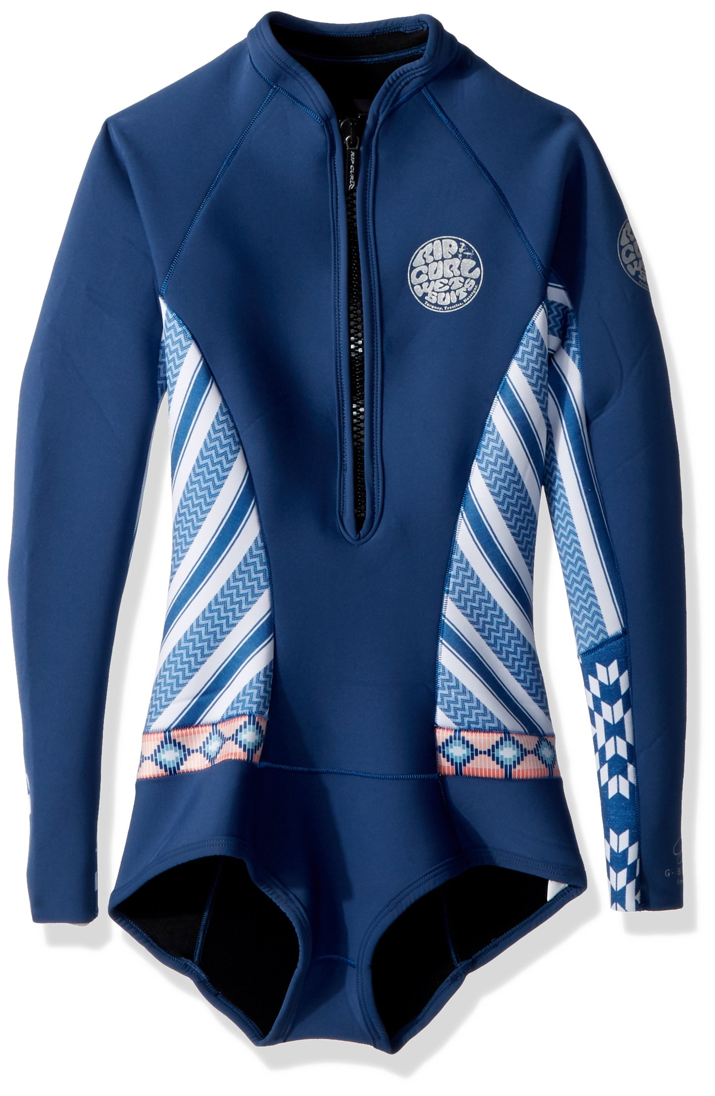 Rip Curl G Bomb Long Sleeve Spring Suit Hi Cut, Navy, Size 6 by Rip Curl