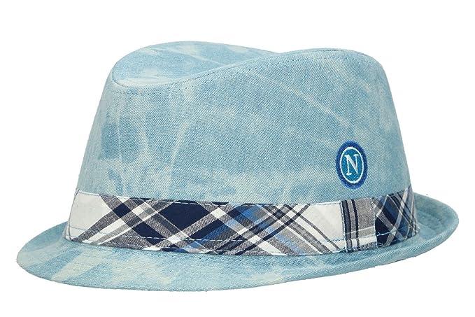 2b23413f Hat trilby man NAPOLI ENZO CASTELLANO light blue tg.L VL2: Amazon.ca ...
