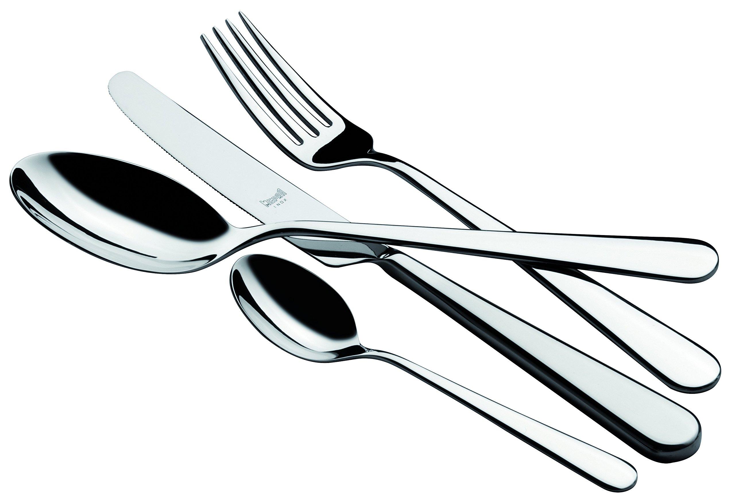 Mepra 107122024 24 Piece Stoccolma Cutlery Set, Stainless Steel by MEPRA