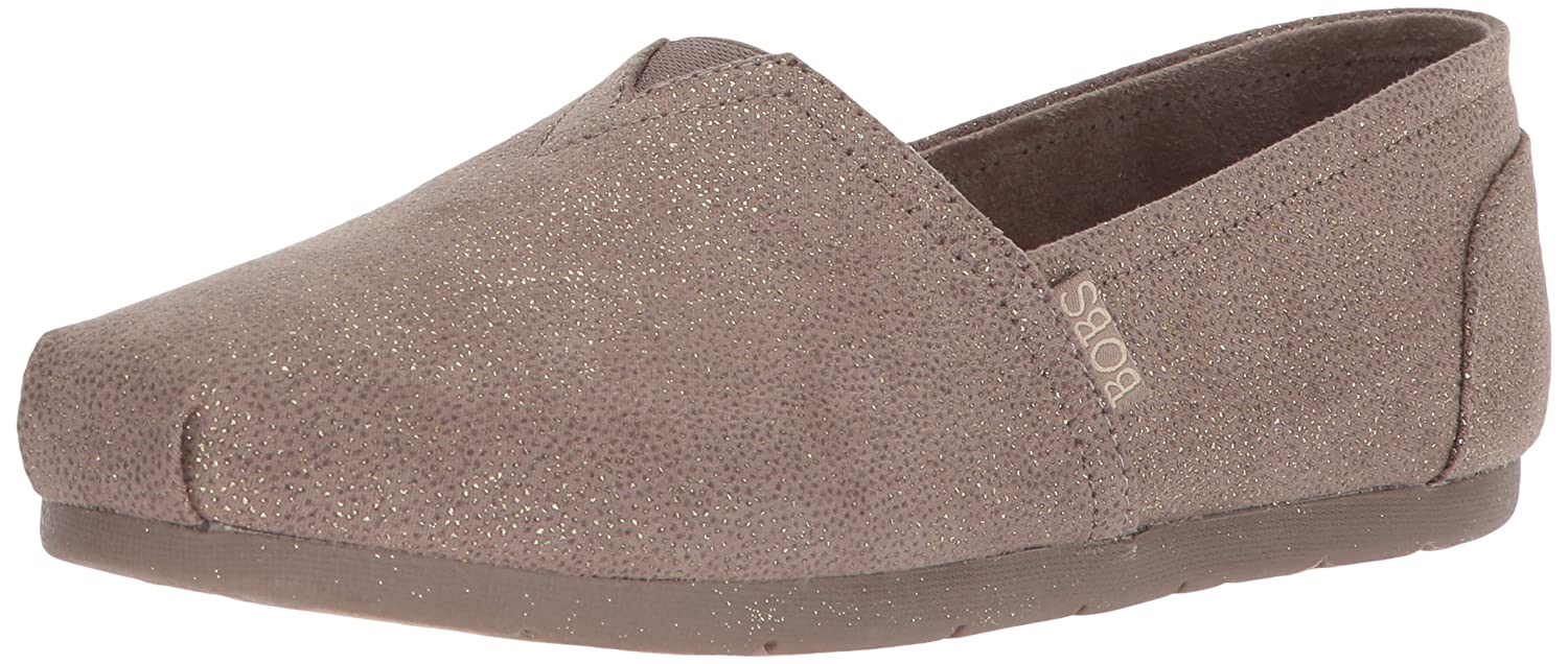 Skechers BOBS from Women's Luxe Bobs-Sparkle Dot Ballet Flat B074KH43TH 11 B(M) US|Taupe