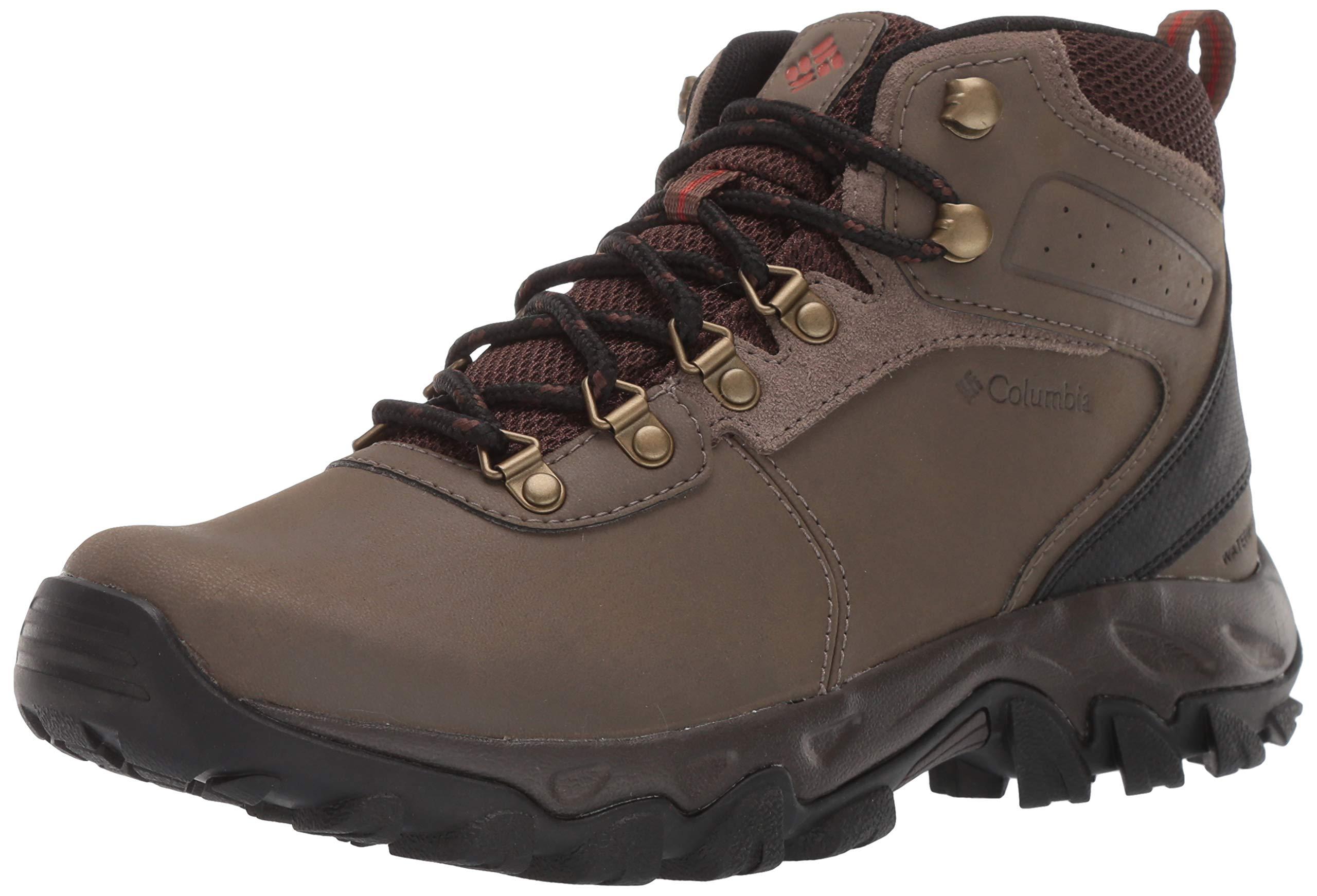 Columbia Men's Newton Ridge Plus II Waterproof Hiking Shoe, Mud, Sanguine, 7 D US