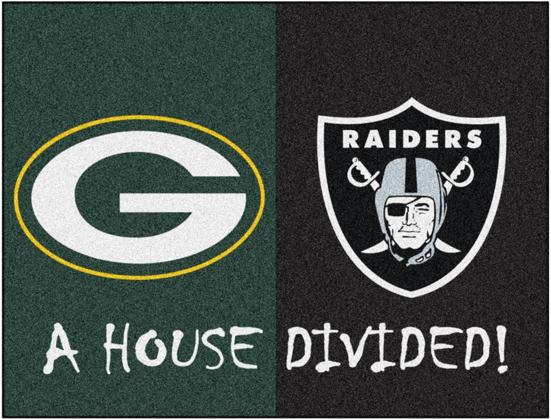 FANMATS NFL Unisex-Adult House Divided Mat
