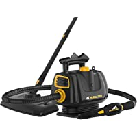 McCulloch MC1270 Portable Power Cleaner with Floor Mop, Variable Steaming, 16-Piece Accessory Set, All-Natural Chemical-Free Cleaning, Black
