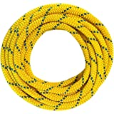 OmniProGear 8mm x 11ft Prusik Cord Yellow / Blue Made IN USA MBS 16.44kN (3700lbs)
