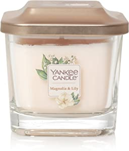 Yankee Candle Company Elevation Collection with Platform Lid, Small 1-Wick Candle, Magnolia & Lily