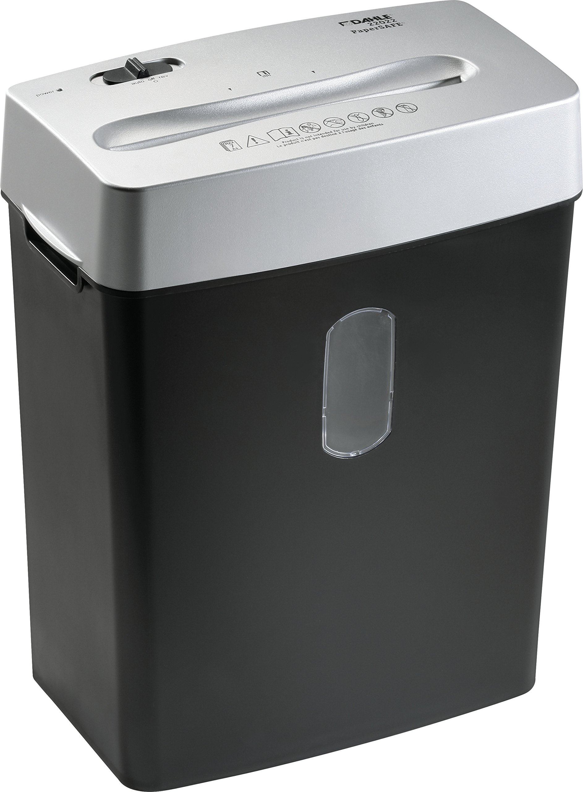 Dahle PaperSAFE 22022 Paper Shredder, Oil Free / Hassle Free, Security Level P-4, 7 Sheet Max, Shreds Staples, Paper Clips & Credit Cards