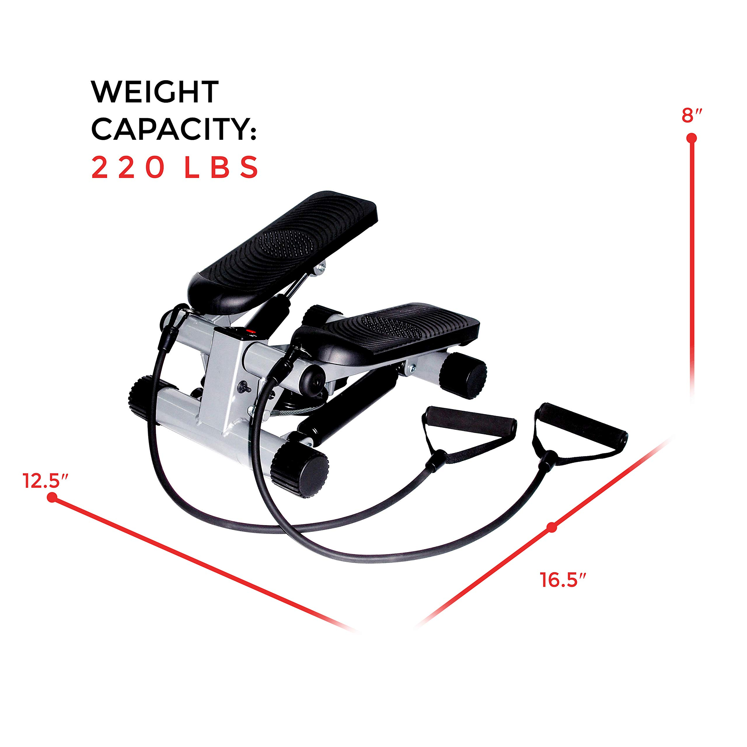 Sunny Health & Fitness Mini Stepper with Resistance Bands by Sunny Health & Fitness (Image #11)