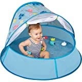 Babymoov Aquani Tent & Pool - 3 in 1 Pop Up Tent, Kiddie Pool and Play Yard