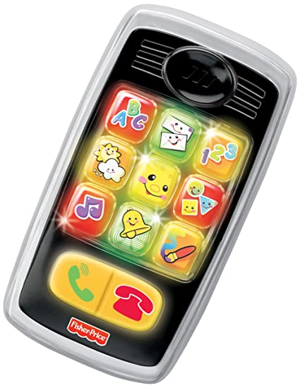Amazon Fisher Price Laugh Learn Smilin Smart Phone Black
