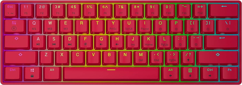 HK Gaming GK61 Red