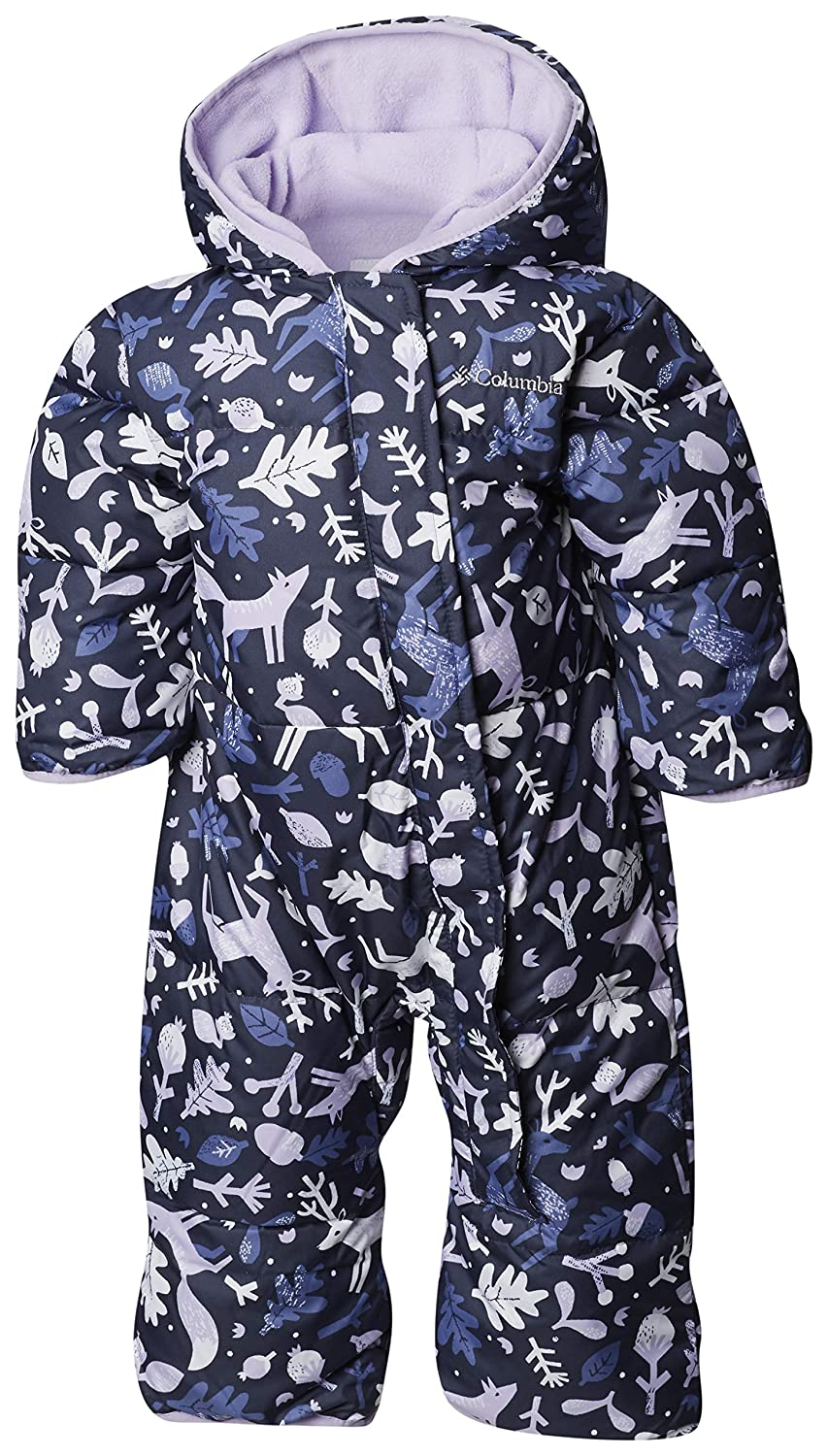 Columbia Mono para beb/é Talla 3//6 Meses Snuggly Bunny Bunting Nocturnal Deers, Soft Violet Azul