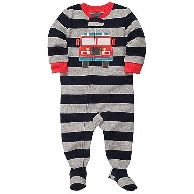 709d742310e6 Amazon.com  Carter s Boys Microfleece Footed Blanket Sleeper Pajamas ...