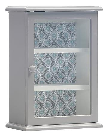Wandschrank Grau.Wandschrank Grau 50x35x21 Cm Hängeschrank Anrichte Blumen