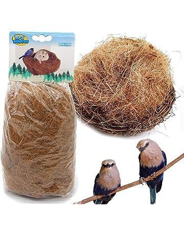 BPS 2 Pcs Sustrato Fibra Nido de Coco Natural para Pájaro Terrario Tropical Pequeño Animal Doméstico