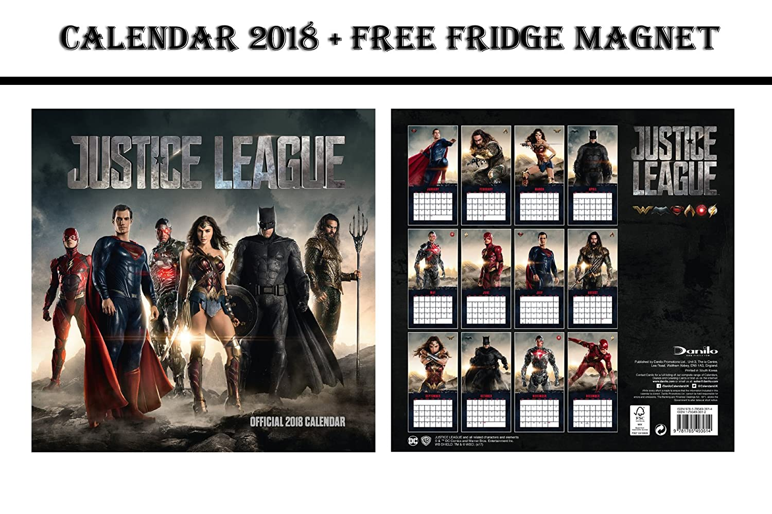 Liga de la justicia Official Calendario 2015 + Marvel Comics imán ...