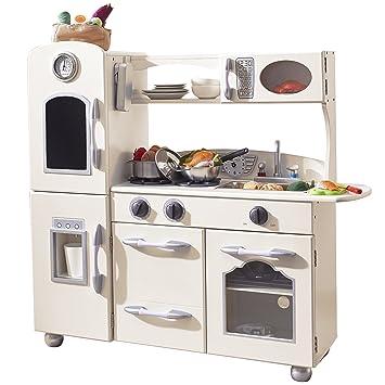 Good Amazon Com Teamson Kids Retro Wooden Play Kitchen With