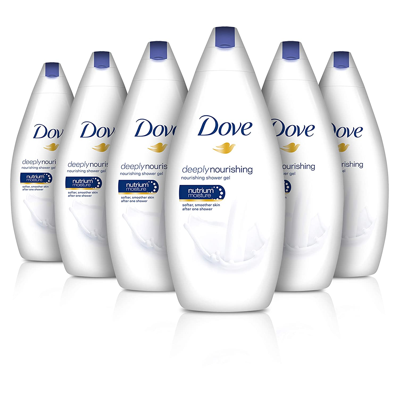 Dove Deep Moisture Deeply Nourishing Body Wash 500ml Pack of 6