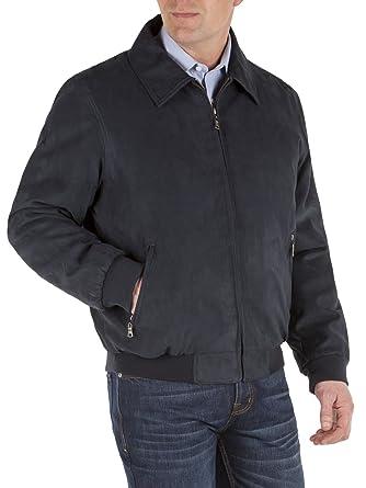 0e6a633c9c66 Combinaison Direct Melka foncé Marine Suédine Bomber Jacket – 0271526 Coupe  classique manteaux et veste -