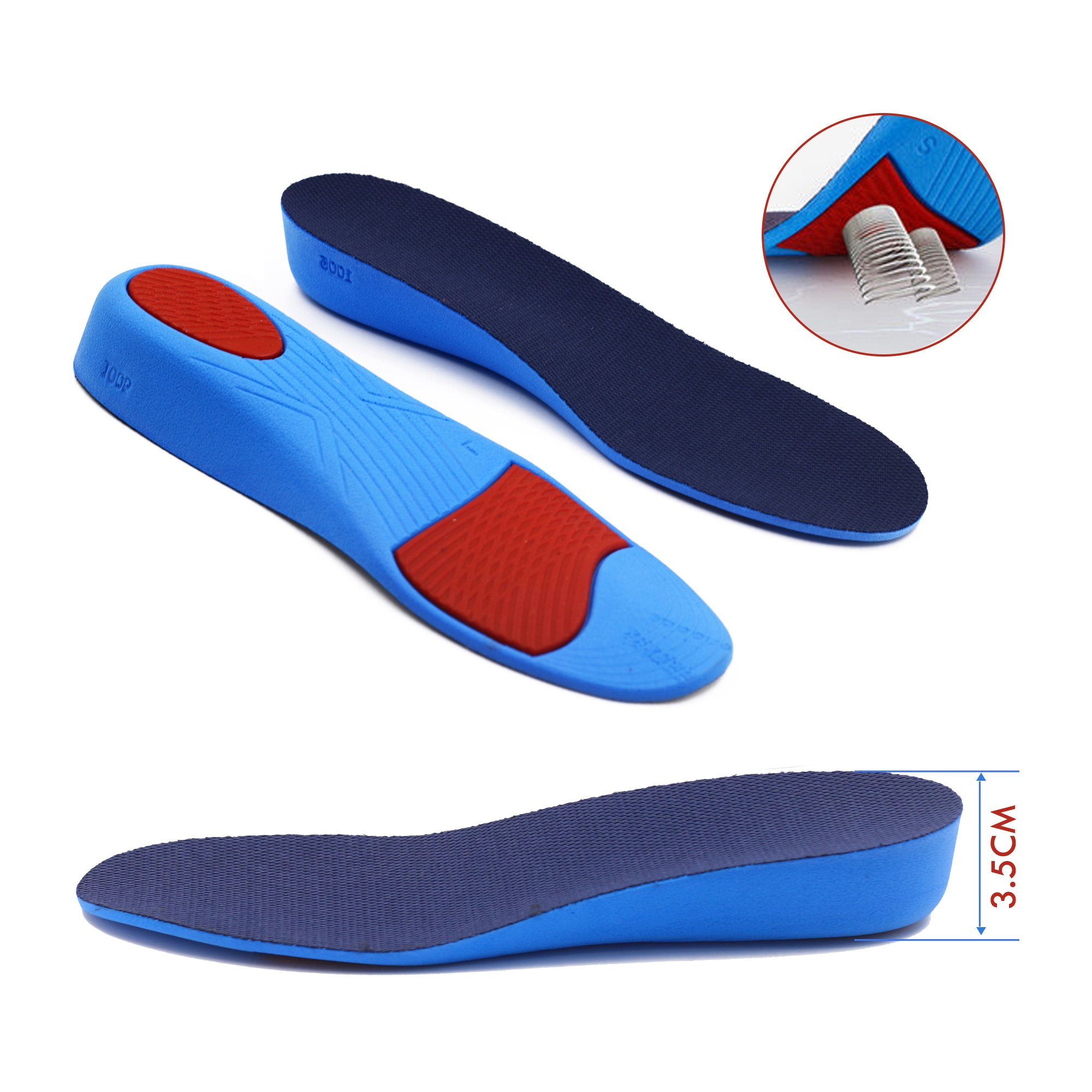 Shoe Lifts For Men 3.5cm (1.37'') Heel Lift Taller Inserts Instant Adjustable Raise the Height With Comfortable Breathable and Reduces Foot Pressure by ERGOfoot