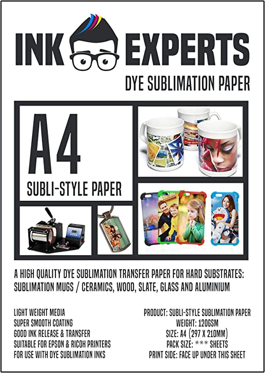 300 Sheets Ink Experts Subli-Style Mug Size Sublimation Paper 120gsm