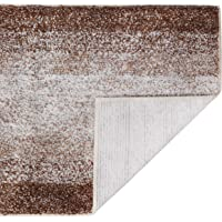 DEARTOWN Non-Slip Shaggy Bathroom Rug,Soft Microfibers Bath Mat with Water Absorbent, Machine Washable(2 Pieces…