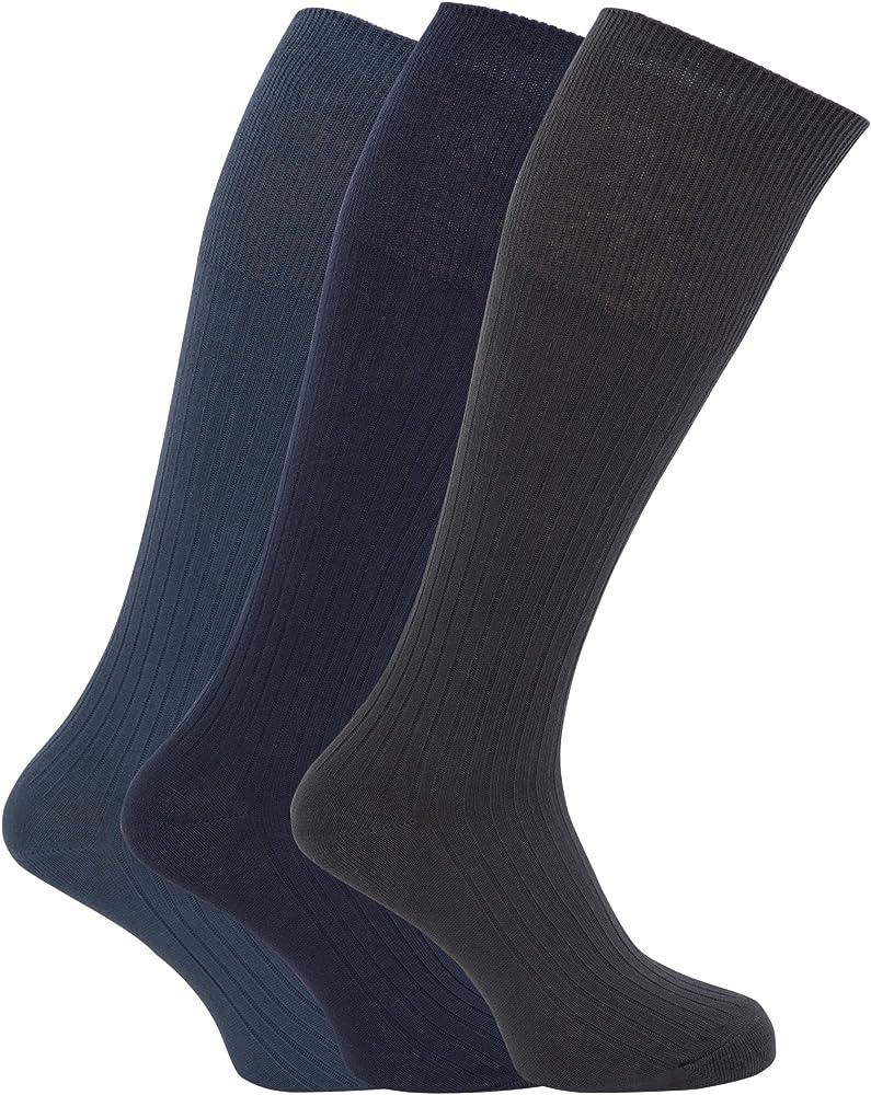 Calcetines acanalados hasta la rodilla para caballero/hombre - 100 ...