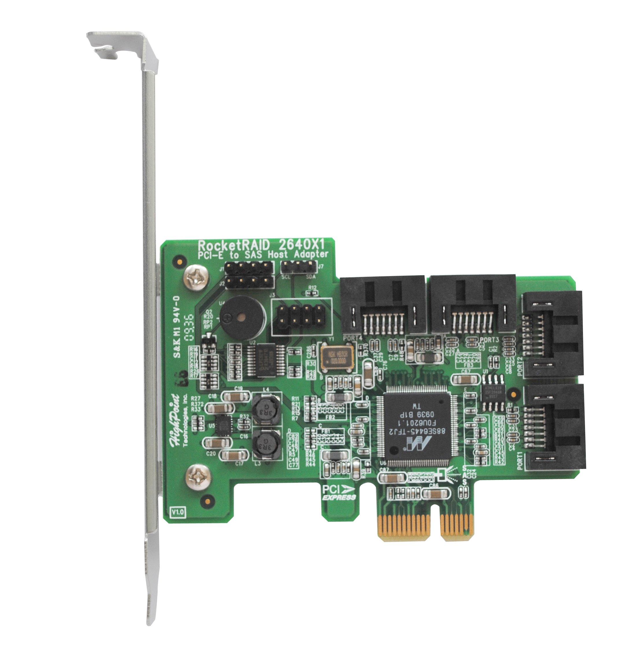 HighPoint RocketRAID 2640X1 4-Channel PCI-Express x1 SAS 3Gb/s RAID Controller by High Point (Image #4)