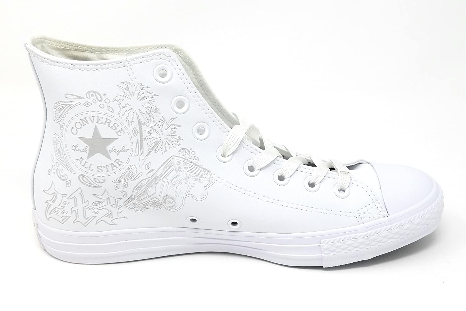 Converse Unisex Chuck Taylor All-Star High-Top Casual Sneakers in Classic Style and Color and Durable Canvas Uppers B07D5HXMYN 12 D(M) US|White/White/Mouse