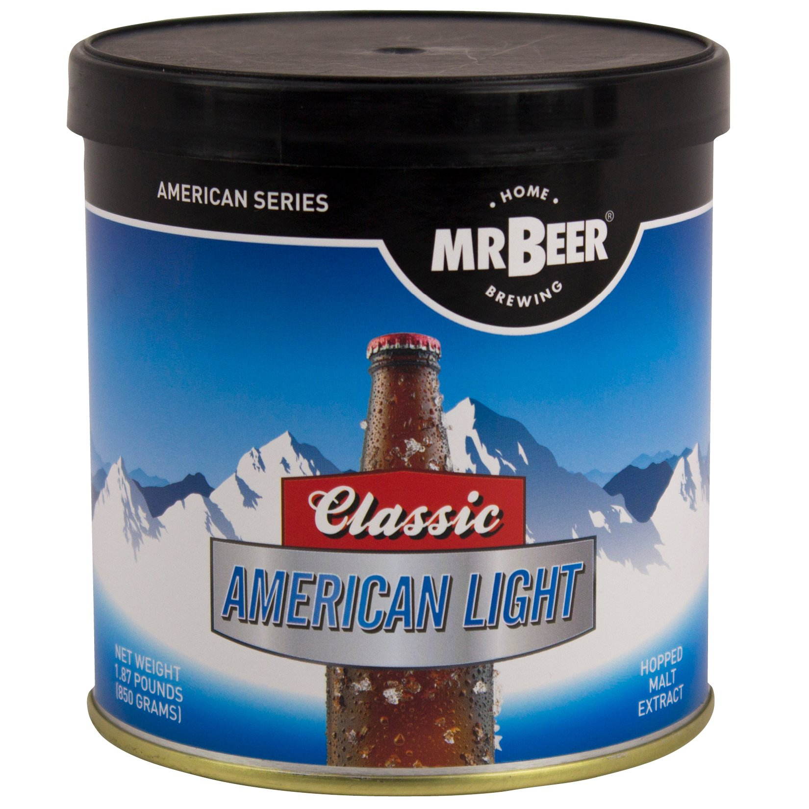 Mr. Beer Classic American Light 2 Gallon Homebrewing Craft Beer Making Refill Kit with Sanitizer, Yeast and All Grain Brewing Extract by Mr. Beer (Image #1)