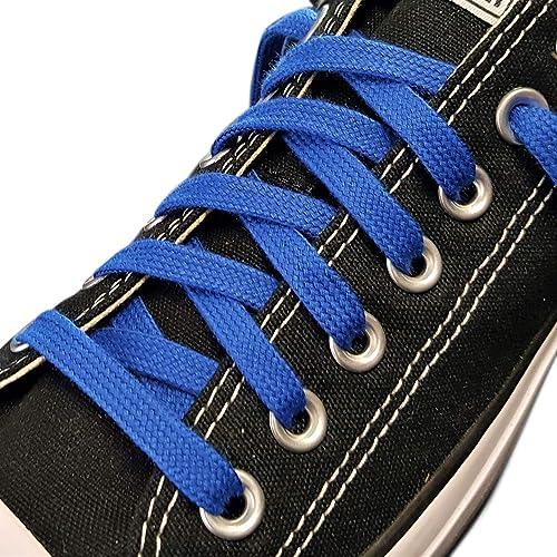 Lacets plats en coton - Idéal pour Adidas, Converse, Vans Stan Smith, Nike  Air Huarache - 8 mm - 60 à 140 cm - Fabriqué en Angleterre
