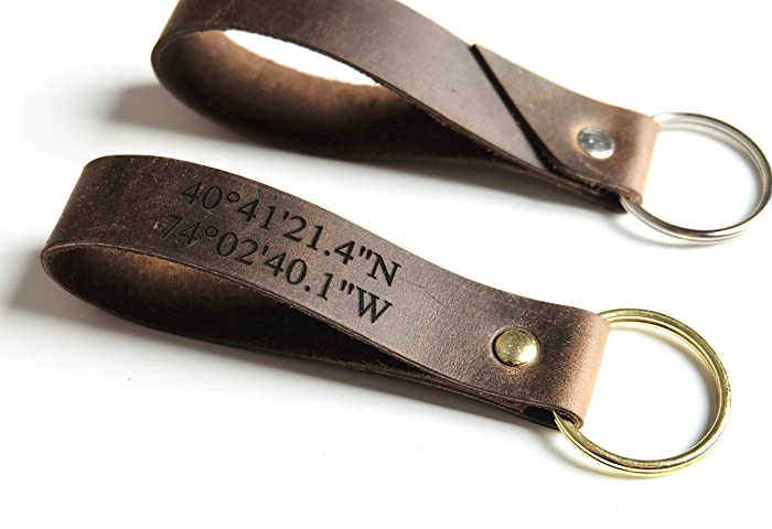 Amazon.com  Keychain Leather Custom 32ff90ba6e