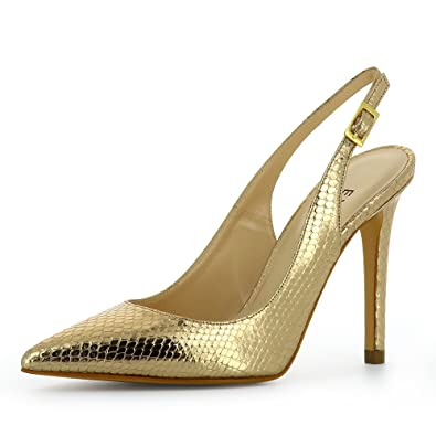 Evita Shoes Alina Damen Sling Pumps Glattleder Schwarz 40 crTcwEHq