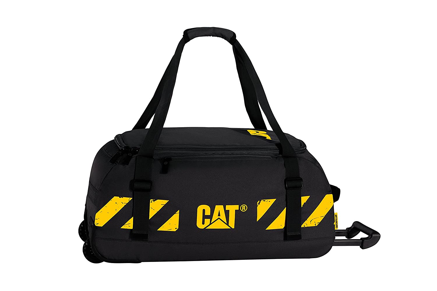 CAT Front Loader Wheeled Duffel, Black, One Size 83227-GPL001