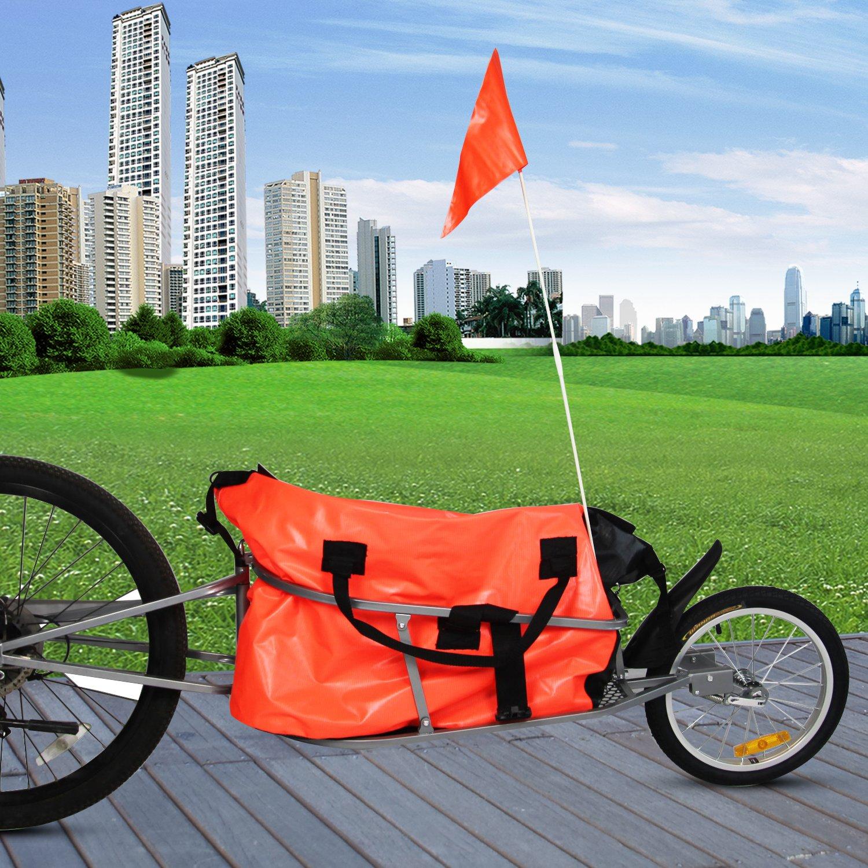 Peach Tree Pet Dog Bike Bicycle Trailer Cargo Stroller Jogger w/Orange Bag by Peachtree Audio (Image #6)