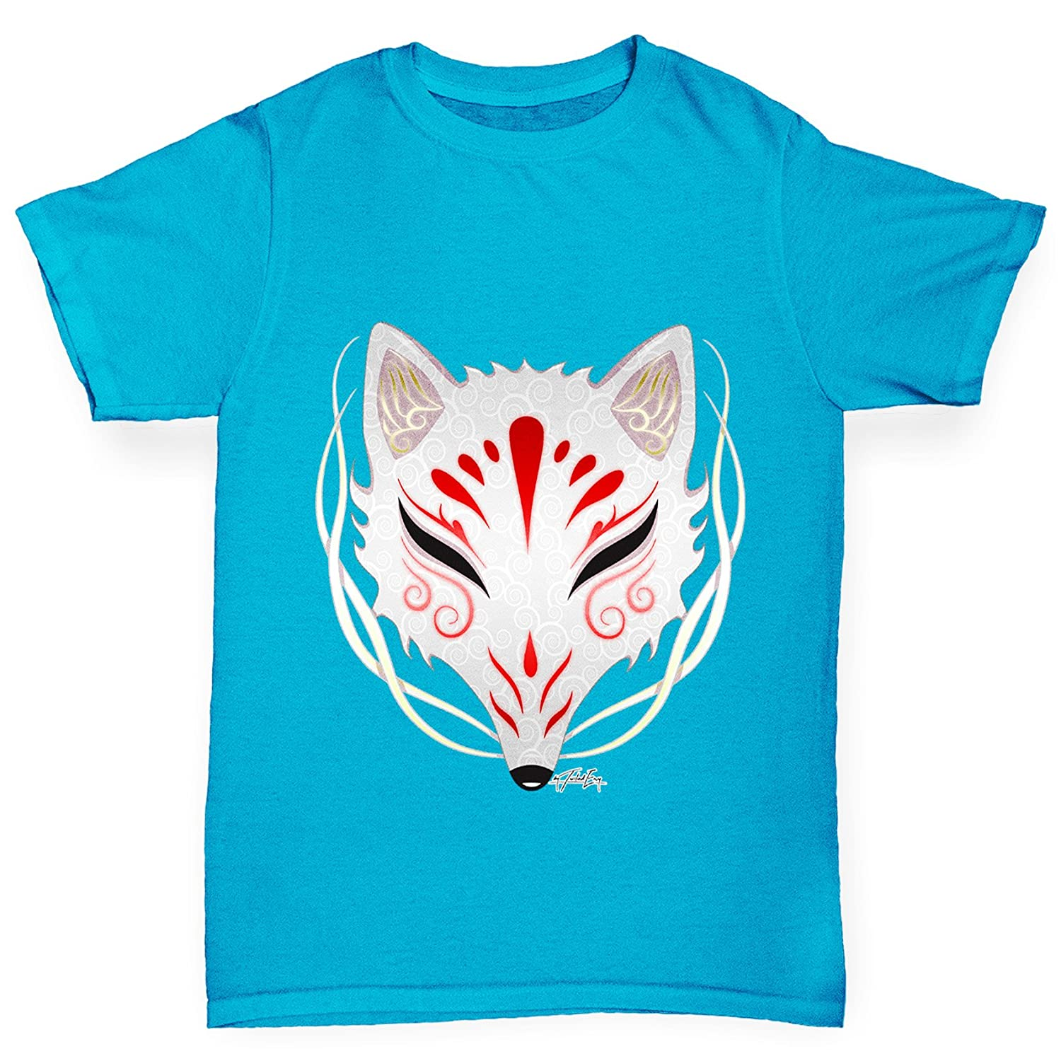 TWISTED ENVY Camiseta Kitsune Tribal máscara de niña: Amazon ...