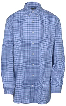 e74c5e2f2f5 Image Unavailable. Image not available for. Color: RALPH LAUREN Polo Mens  Big and Tall Wicking Stretch Button-Down Shirt ...