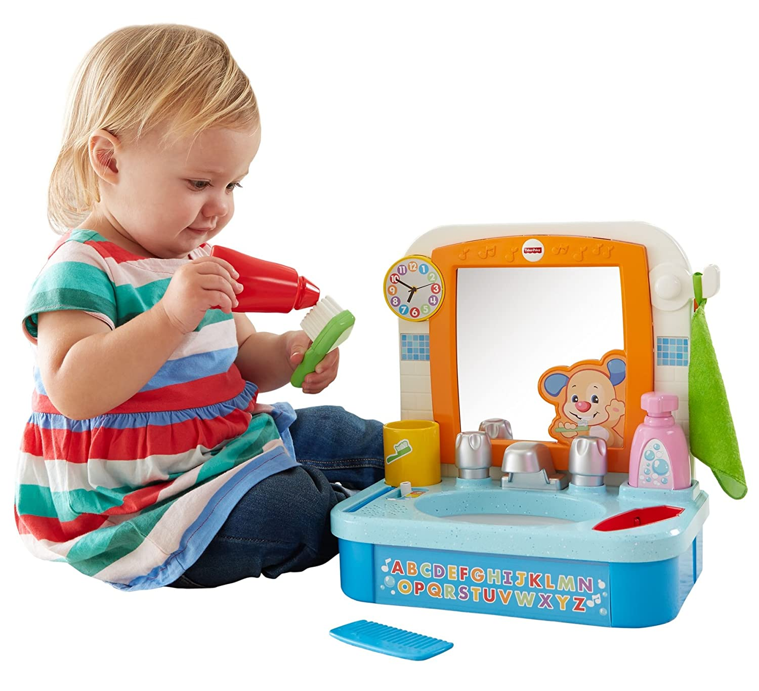 Amazon Fisher Price Laugh & Learn Let s Get Ready Sink Toys