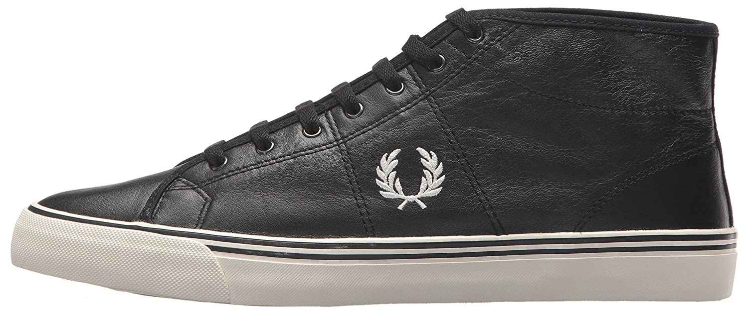 Fred Perry D Haydon Mid Leather Sneaker B06W55V4MD 11 D Perry UK (12 US)|Black 06c847