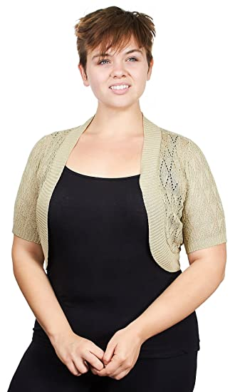 d0c37ce445c Knit Minded Plus Size Womens Ladies Plus Size Diamond Knit Pattern Topper  Open Front Cardigan (See More Colors and Sizes)