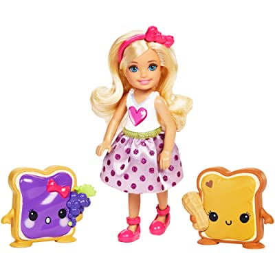 Barbie Dreamtopia Sweetville Kingdom Chelsea & Sandwich Friend Doll: Toys & Games
