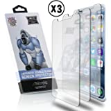 Nordic 3D Touch Tempered Glass Screen Protector Set for Apple iPhone X Smartphone: 3 Pack of 0.33MM Case-Friendly Films, Cleaning Pads, and Cloths